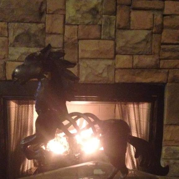 iron horse fireplace